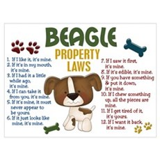Beagle Property Laws 4 Canvas Art