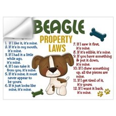 Beagle Property Laws 4 Wall Decal