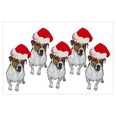 """Jack Russell Santa"" Poster"
