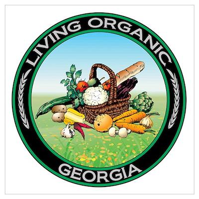 Living Organic Georgia Poster