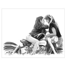 Motorcycle Gals Poster