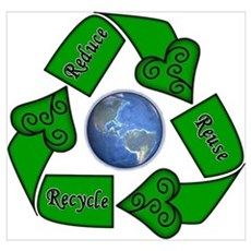 Reduce Reuse Recycle - Earth Poster