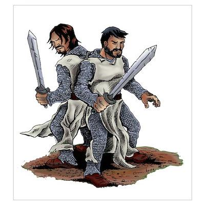 Templar Knights Poster