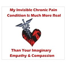 Invisible Chronic Pain Red He Poster
