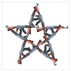 AK-Pentagram Canvas Art
