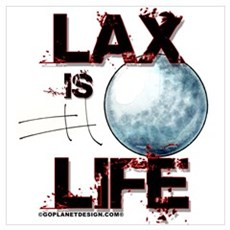 Lax Is Life Framed Print