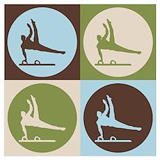 Gymnastics Pop Art Poster