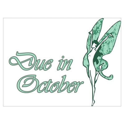 Due October Green W Fairy Canvas Art