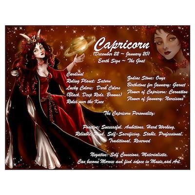 Goddess Capricorn Poster