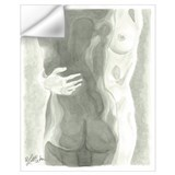 Lesbian nude Wall Decals