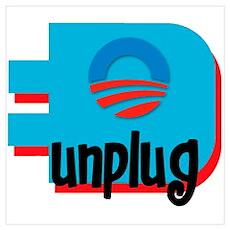 Unplug Obama Logo Poster