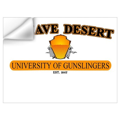 University of Gunslingers Wall Decal