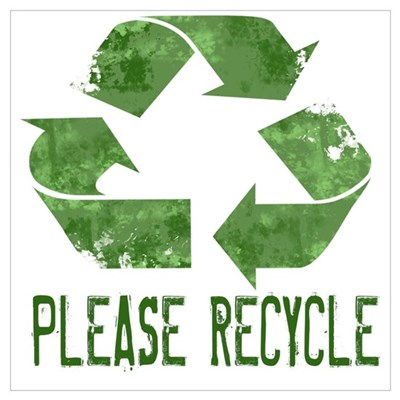Please Recycle Grunge Poster