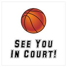 Basketball Court Poster
