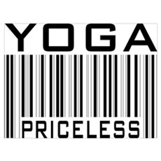 Yoga Priceless Bar Code Poster