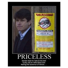 Blagojevich Pricless Poster