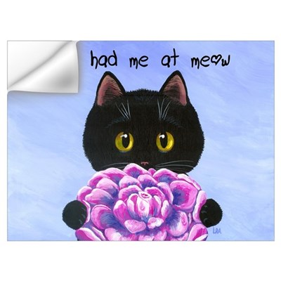 """You Had Me at Meow"" Wall Decal"