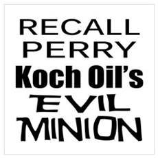 Recall Governor Rick Perry Poster