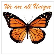 We Are All Unique: Butterfly Poster