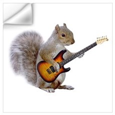 Squirrel Guitar Wall Decal