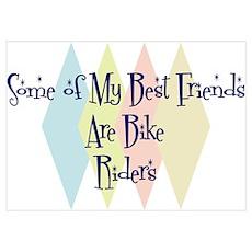 Bike Riders Friends Poster