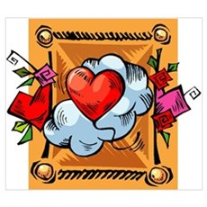Valentine Heart Balloon Poster
