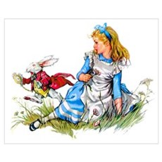 ALICE & THE RABBIT Canvas Art