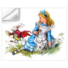 ALICE & THE RABBIT Wall Decal