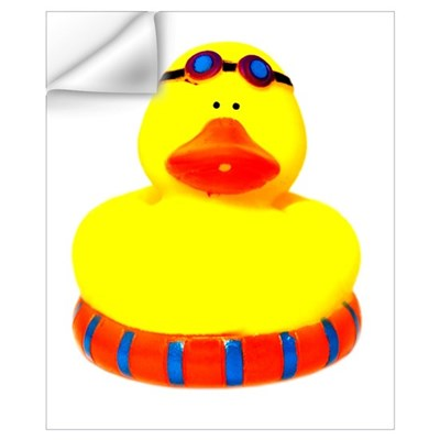 Rubber bather yellow duck Wall Decal