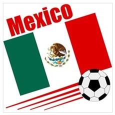 Mexico Soccer Team Poster