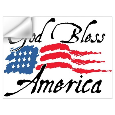 God Bless America v2 Wall Decal