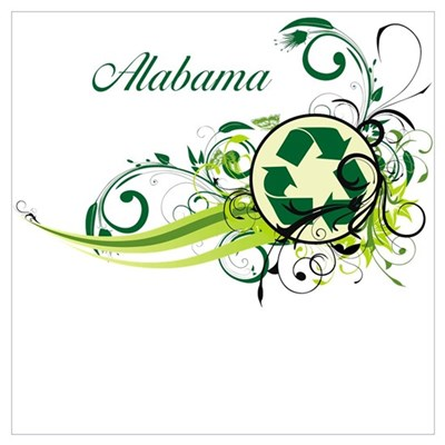 Alabama Recycle T-Shirts and Gifts Canvas Art