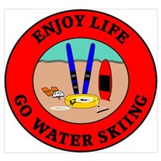 Enjoy Life Go Water Skiing Framed Print