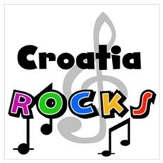 Croatia Rocks Poster