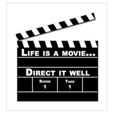 Life is a movie Framed Print