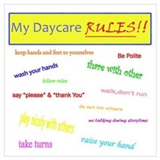My Daycare Rules Poster
