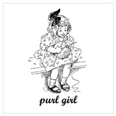 Knitting - Purl Girl Canvas Art