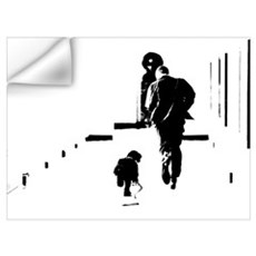 Barack Obama + Bo Running Wall Decal