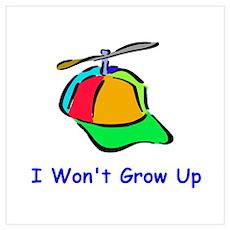 I Won't Grow Up Poster