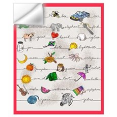 Illustrated Alphabet Wall Decal