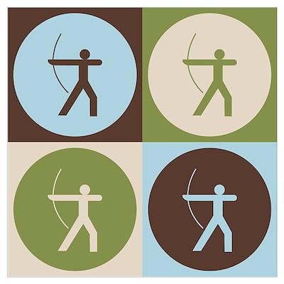 Archery Pop Art Poster