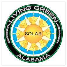 Living Green Alabama Solar Energy ri Poster
