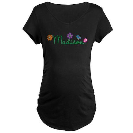 Madison Flowers Maternity Dark T-Shirt