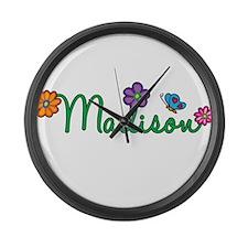 Madison Flowers Large Wall Clock