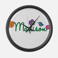 Madison Flowers Large Wall Clock