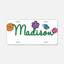 Madison Flowers Aluminum License Plate