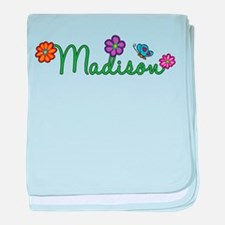 Madison Flowers baby blanket