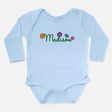 Madison Flowers Long Sleeve Infant Bodysuit