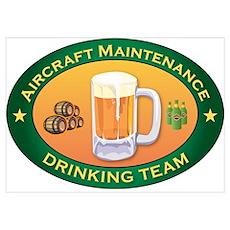 Aircraft Maintenance Team Poster