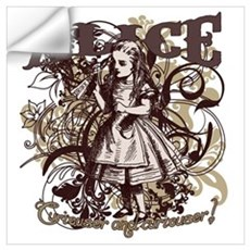 Alice In Wonderland Carnivale Wall Decal
